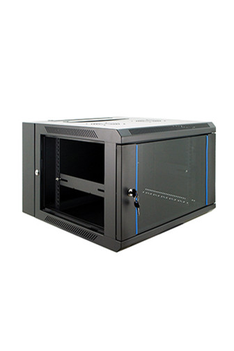 Double section wall mounted network cabinet