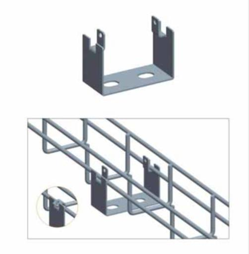 Hot-Dip Galvanized steel & stainless steel Wire Mesh Cable Tray with COVER